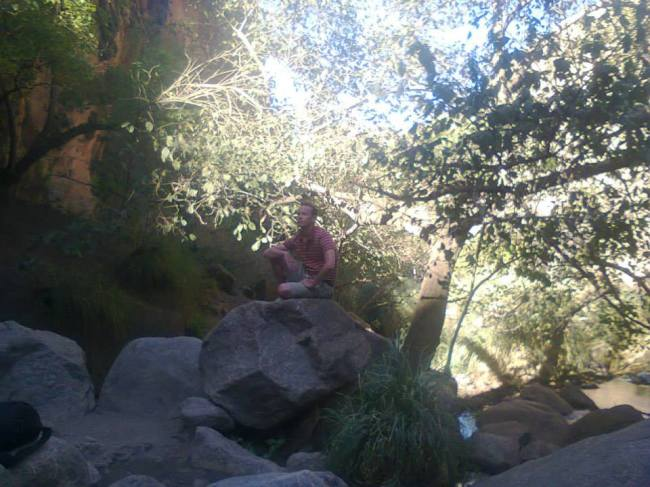 Me, enjoying the view